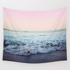 Small Beach Waves Tapestry